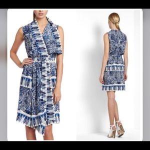 Bcbg idelle silk dress sz s blue silk